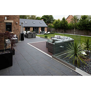 Marshalls Symphony Smooth Basalt 595 x 1192 x 20mm Porcelain Paving Slab - Pack of 26