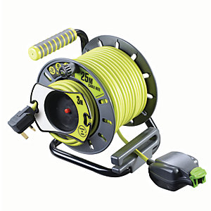 Masterplug Pro-XT Reverse Open Reel High Visibility Cable - 25m