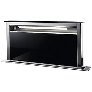 AEG 90cm Downdraft Black and Stainless Steel Cooker Hood DDE5980G