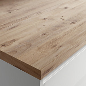 Wickes Wood Effect Laminate Worktop - Jackson Grain 600mm x 38mm x 3m