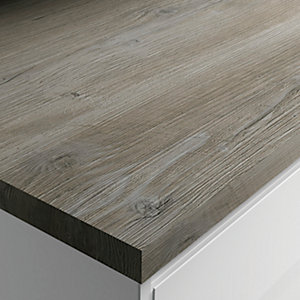 Wickes Wood Effect Laminate Worktop Upstand - Mystic Pine 70 x 12mm x 3m