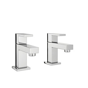 Wickes Kubic Chrome Basin Taps