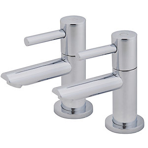 Wickes Mirang Chrome Basin Taps