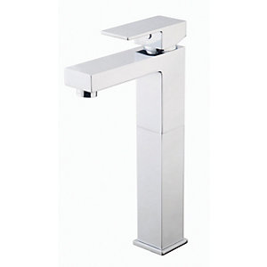 Wickes Kubic Chrome Tall Basin Mixer Tap