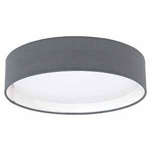 Eglo Pasteri LED Matt Grey Ceiling Light - 11W