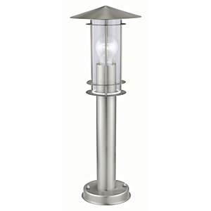 Eglo Lisio Stainless Steel Outdoor Post Lamp - 60W
