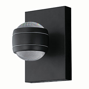 Eglo Sesimba LED Black Galvanized Steel Outdoor Wall Light