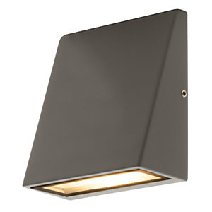 Luceco LED Grey Exterior Wedge Wall Light - 3W