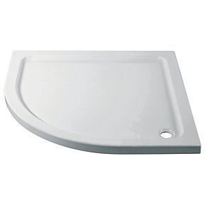 Wickes White Cast Stone Quadrant Shower Tray - 800 X 800mm