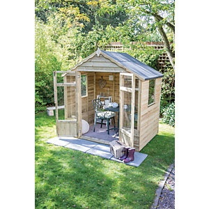 Forest Garden 7 x 5 ft Oakley Double Door Summerhouse