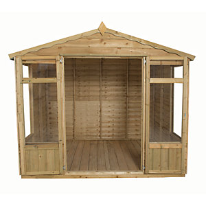 Forest Garden 8 x 6 ft Oakley Double Door Summerhouse