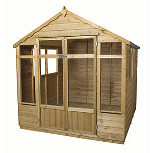 Forest Garden 7 x 7 ft Oakley Double Door Summerhouse