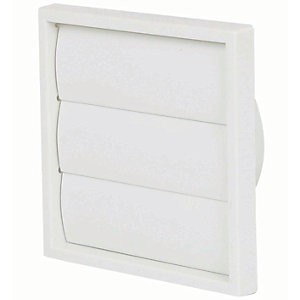 Manrose PVC Gravity Wall Shutter Grille - White 100mm
