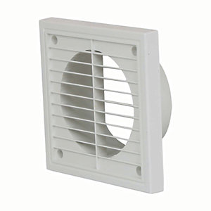 Manrose PVC Fixed Grille - White 100mm