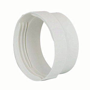 Manrose PVC White Round Male Connector - 100mm
