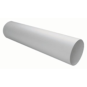 Manrose PVC White Solid Wall Duct - 150mm
