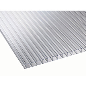 10mm Clear Multiwall Polycarbonate Sheet - 2500 x 2100mm