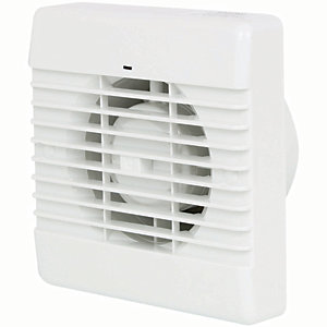 Manrose Bathroom Fan with Timer - White 100mm