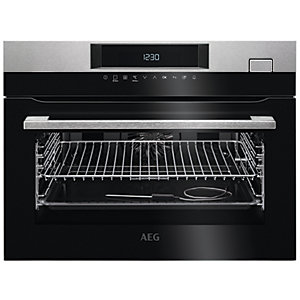 AEG Built-In Compact Steam Boost Multifunction Stainless Steel Steam Oven KSK782220M