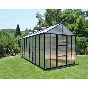 Palram 8 x 16ft Glory Aluminium Frame Apex Greenhouse
