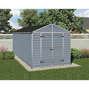Palram Skylight 8 x 16ft Plastic Apex Shed