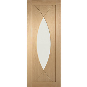 XL Joinery Pesaro Glazed Oak Patterned Internal Fire Door - 1981mm