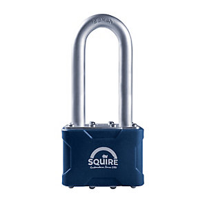 Squire Long Shackle Laminated Double 4 Pin Locking Padlock - 50mm