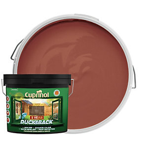 Cuprinol 5 Year Ducksback Matt Shed & Fence Treatment - Harvest Brown 9L