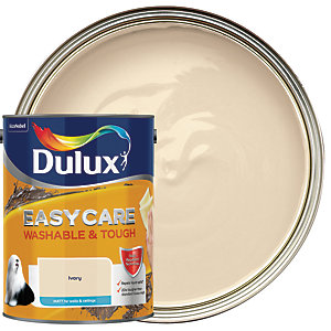 Dulux Easycare Washable & Tough - Ivory - Matt Emulsion Paint 5L