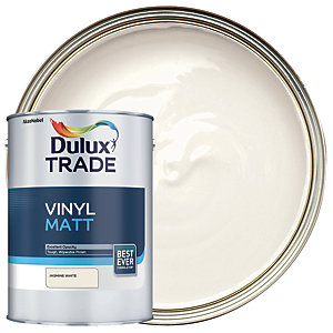 Dulux Trade Vinyl Matt Emulsion Paint - Jasmine White 5L