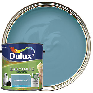 Dulux Easycare Kitchen - Stonewashed Blue - Matt Emulsion Paint 2.5L