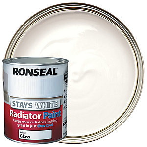 Ronseal Stays White Radiator Paint White Gloss 750ml