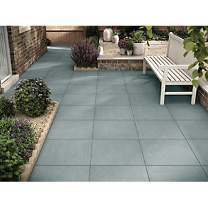 Marshalls Limestone Textured Blue Multi Paving Slab 600 x 600 x 22 mm