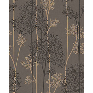 Superfresco Easy Eternal Chocolate and Bronze Glitter Effect Wallpaper - 10m