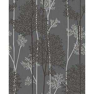 Superfresco Easy Eternal Charcoal and Silver Glitter Effect Wallpaper -10m