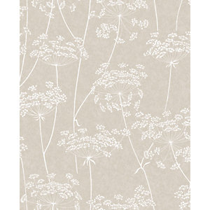 Superfresco Easy Aura Taupe Decorative Wallpaper - 10m