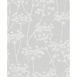 Superfresco Easy Aura Grey Decorative Wallpaper - 10m