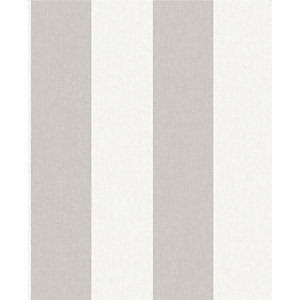 Superfresco Easy Calico Natural Stripe Decorative Wallpaper - 10m