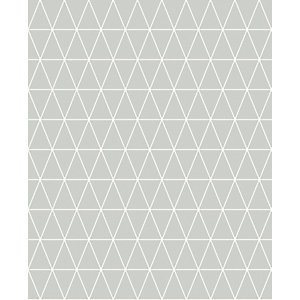 Superfresco Easy Triangolin Grey Geometric Design Wallpaper - 10m