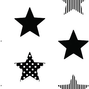 Superfresco Easy Superstar Black and White Decorative Wallpaper - 10m