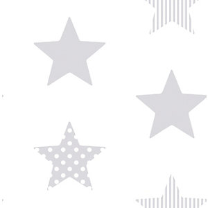 Superfresco Easy Superstar Silver Decorative Wallpaper - 10m