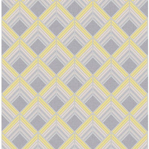 Boutique Trifina Geo Yellow Decorative Wallpaper - 10m