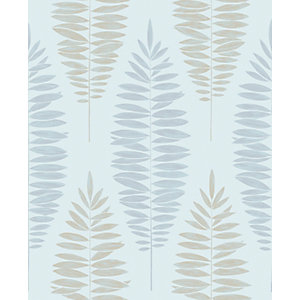 Boutique Lucia Duck Egg Blue Decorative Wallpaper - 10m