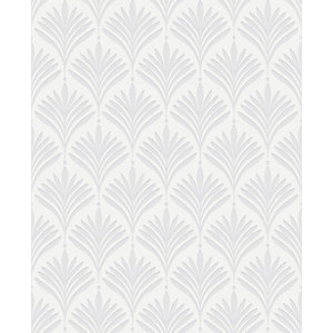 Superfresco Easy Bonnie Geo White/Silver Decorative Wallpaper - 10m