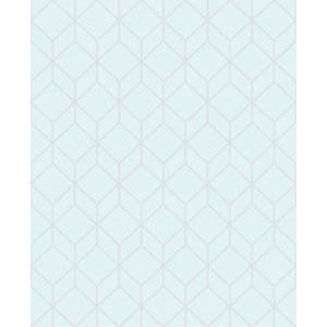 Superfresco Easy Myrtle Geo Duck Egg Blue Decorative Wallpaper - 10m