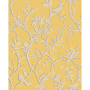 Superfresco Easy Laos Trail Yellow/Gold Decorative Wallpaper - 10m