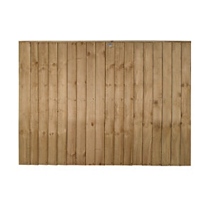 Forest Garden Pressure Treated Featheredge Fence Panel - 6 X 4ft Multi Packs