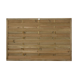 Forest Garden Horizontal Hit & Miss Fence Panel - 6 x 4ft Multi Packs