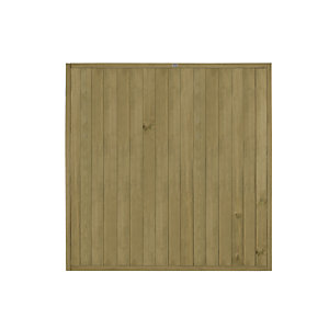 Forest Garden Tongue & Groove Vertical Fence Panel - 6 x 6ft Multi Packs