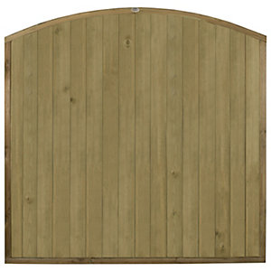 Forest Garden Domed Top Tongue & Groove Fence Panel - 6 x 6ft Multi Packs